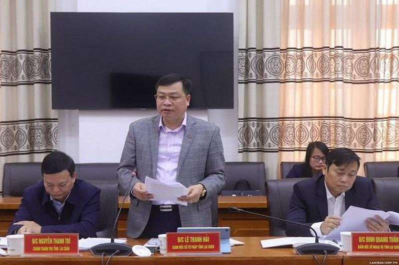 Ông Lê Thanh Hải – Giám đốc Sở Tư pháp tỉnh Lai Châu luôn quan tâm chỉ đạo sâu sát công tác cải cách hành chính.